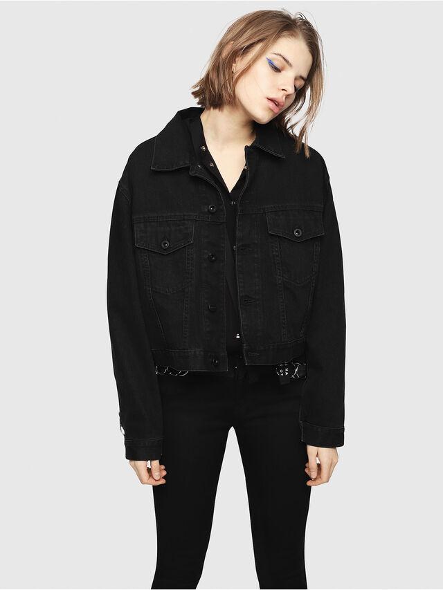 Diesel - DE-POPPY-X, Black Jeans - Denim Jackets - Image 1