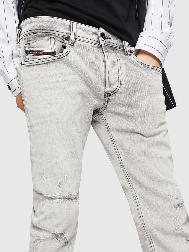 Diesel - Sleenker 0090F, Light Grey - Jeans - Image 3