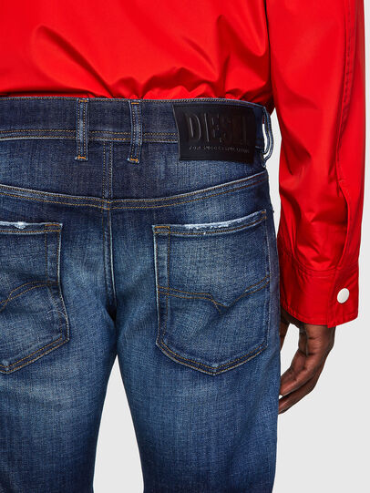 Diesel - Sleenker 09A27, Dark Blue - Jeans - Image 4