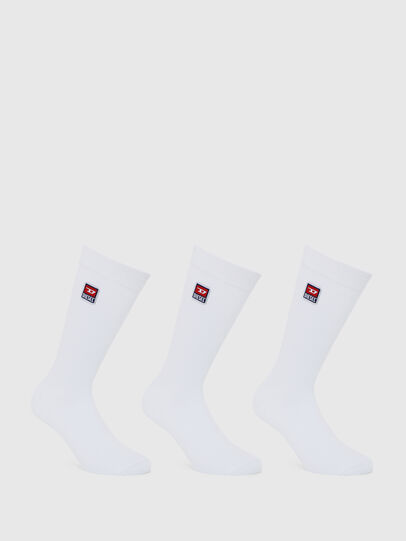 Diesel - SKM-RAY-THREEPACK, White - Socks - Image 1