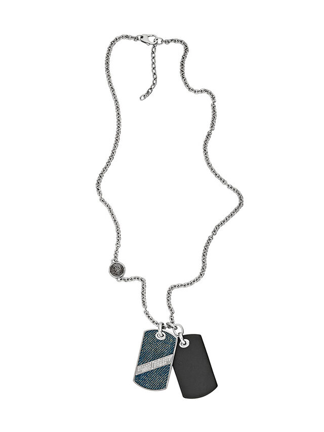 Diesel - NECKLACE DX1031, Blue Jeans - Necklaces - Image 1