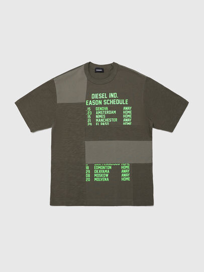 Diesel - TATCHWORK OVER, Military Green - T-shirts and Tops - Image 1