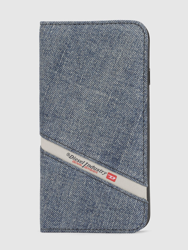Diesel DENIM IPHONE X FOLIO, Blue Jeans - Flip covers - Image 2