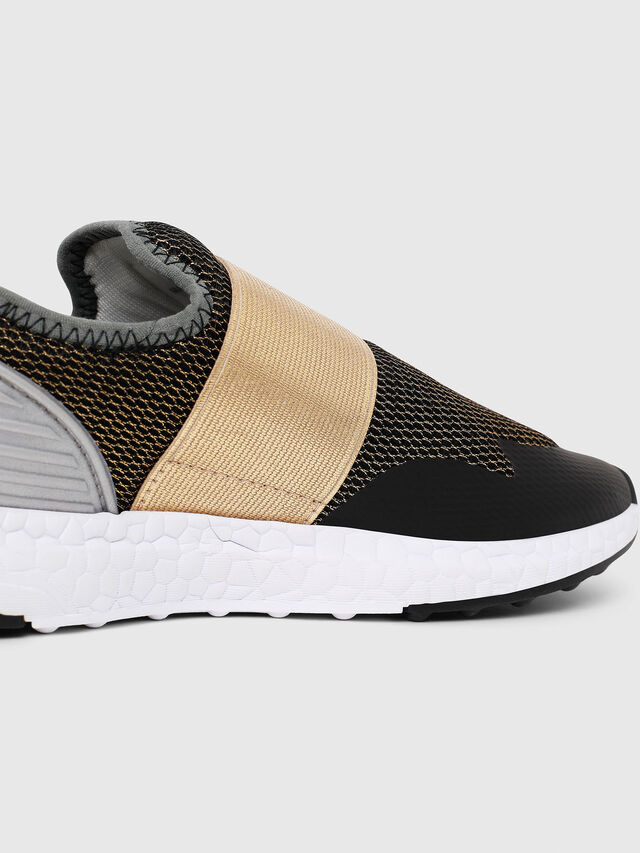 Diesel - SN SLIP ON 16 ELASTI, Black/Gold - Footwear - Image 4