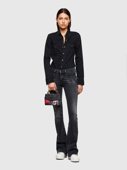 Diesel - DE-RINGY, Black - Denim Shirts - Image 5