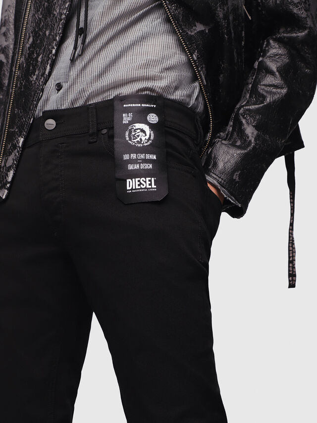 Diesel - Sleenker 069EI, Black/Dark grey - Jeans - Image 3