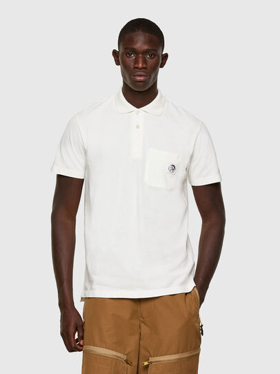Diesel - T-POLO-WORKY, White - Polos - Image 1