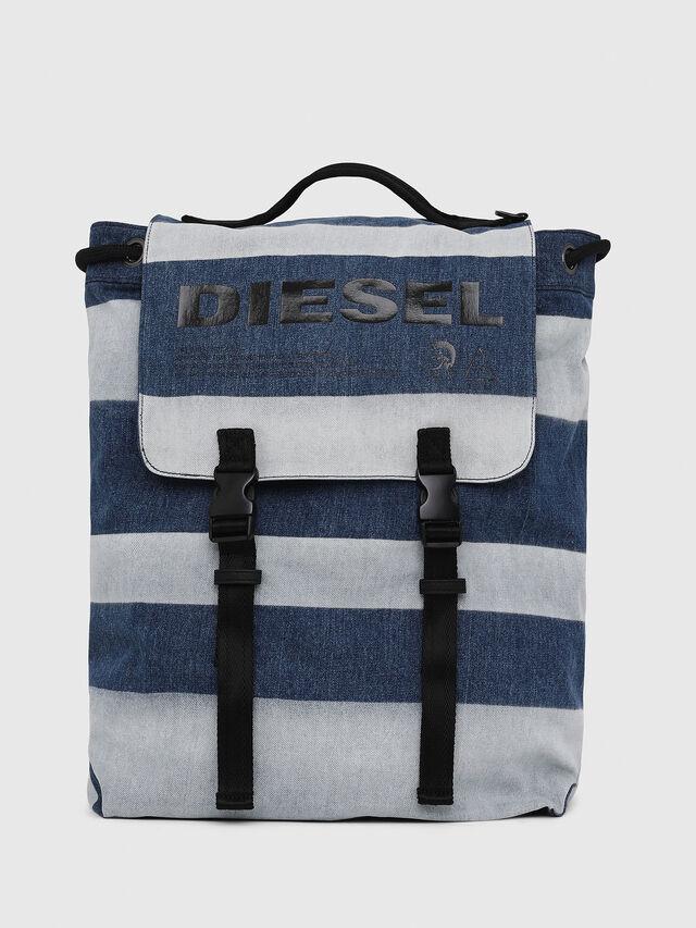Diesel - VOLPAGO BACK, Blue Jeans - Backpacks - Image 1