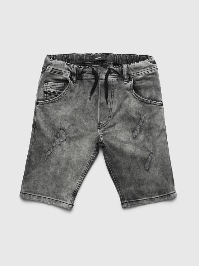 Diesel - PKROOLEYNE-CUT SH, Black/Grey - Pants - Image 1