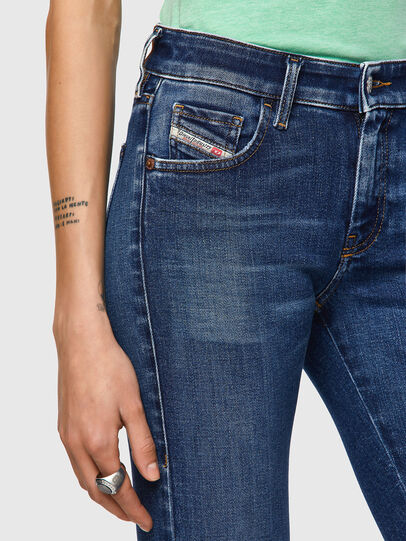 Diesel - Slandy Low 009ZX, Dark Blue - Jeans - Image 3