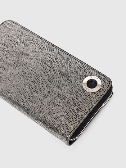 Diesel - 24 ZIP, Grey - Zip-Round Wallets - Image 4