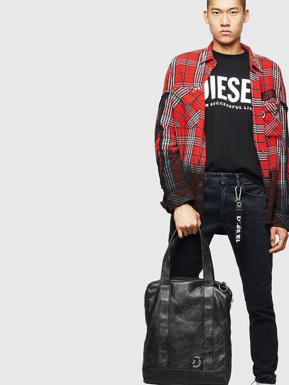 Diesel - ZAVIO, Black - Shopping and Shoulder Bags - Image 7