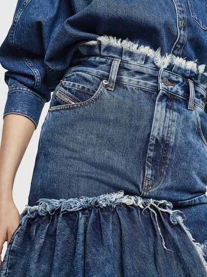 Diesel - DE-ALAYNA, Medium blue - Skirts - Image 6