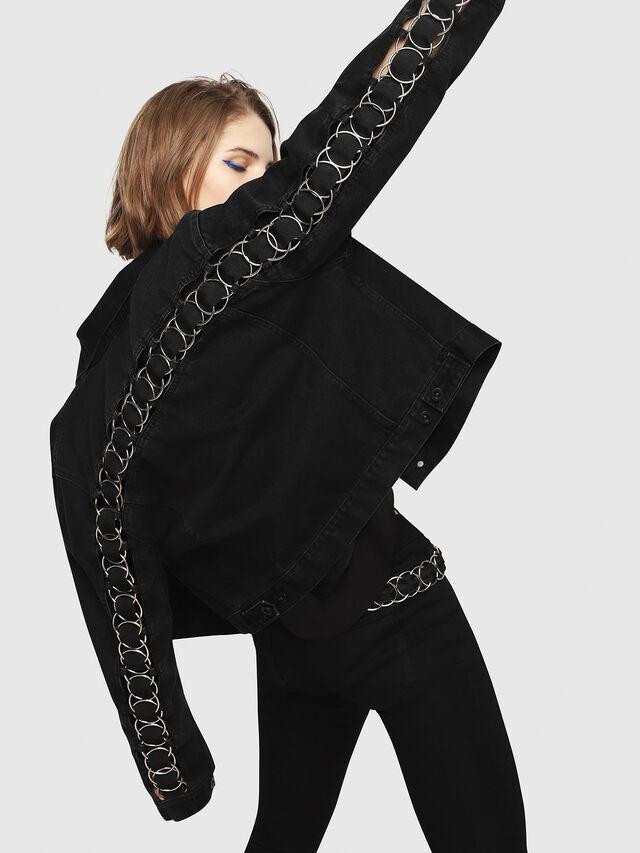 Diesel - DE-POPPY-X, Black Jeans - Denim Jackets - Image 3