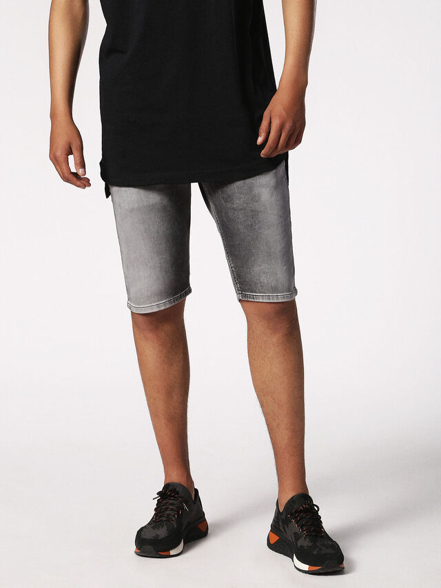 Diesel - KROSHORT JOGGJEANS, Grey Jeans - Shorts - Image 4