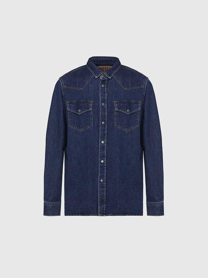 Diesel - D-EAST-P, Dark Blue - Denim Shirts - Image 1