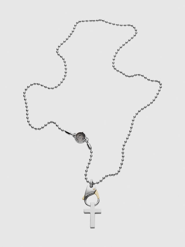 Diesel - DX1149, Silver/White - Necklaces - Image 1