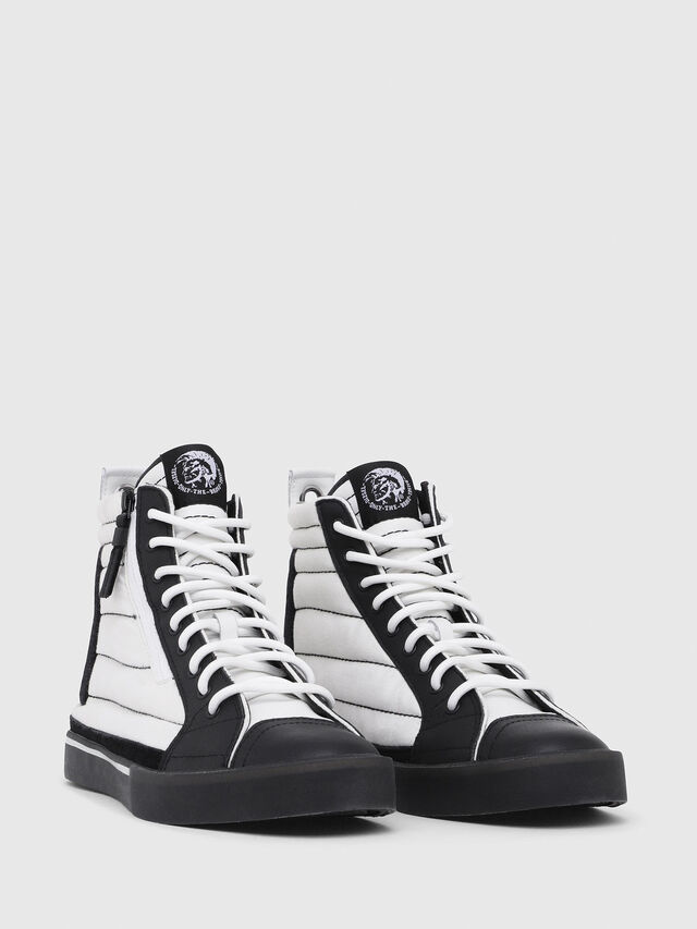 Diesel - D-VELOWS MID PATCH, White/Black - Sneakers - Image 2