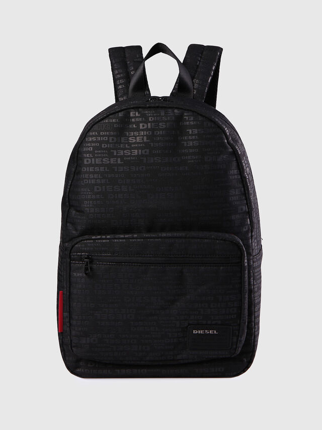 Diesel - F-DISCOVER BACK, Black/Red - Backpacks - Image 1