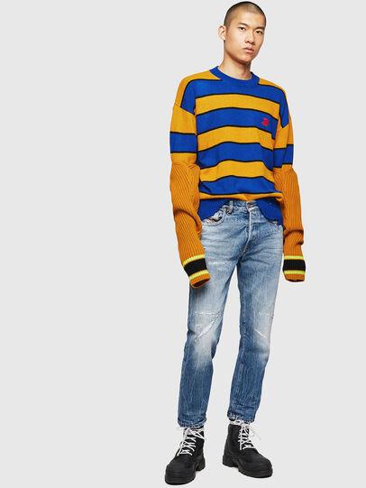 Diesel - K-LOVERY, Blue/Yellow - Knitwear - Image 7