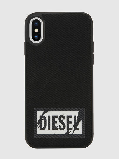 Diesel - BLACK DENIM IPHONE X CASE, Black - Cases - Image 2