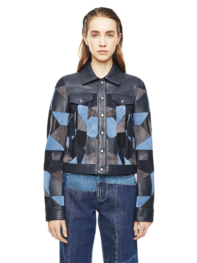 Diesel - LATCHY, Blue - Leather jackets - Image 1