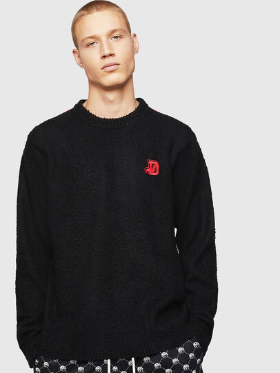 Diesel - K-CASY, Black - Knitwear - Image 1