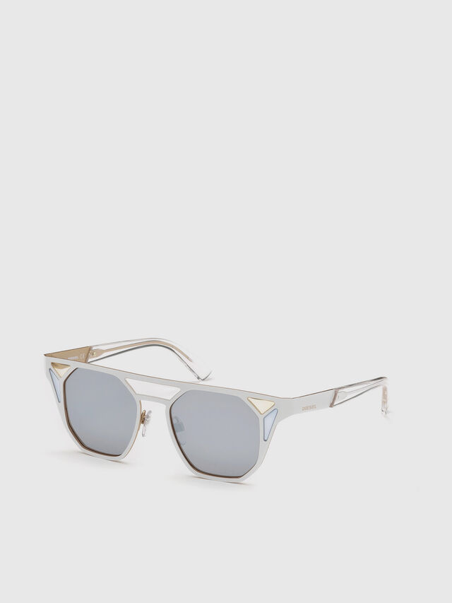Diesel - DL0249, White - Sunglasses - Image 4