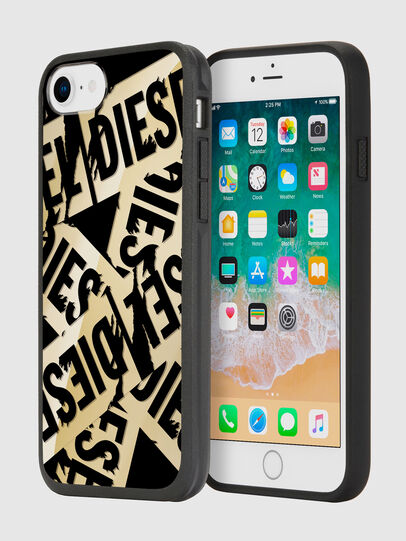 Diesel - MULTI TAPE GOLD/BLACK IPHONE 8/7/6S/6 CASE, Gold - Cases - Image 1