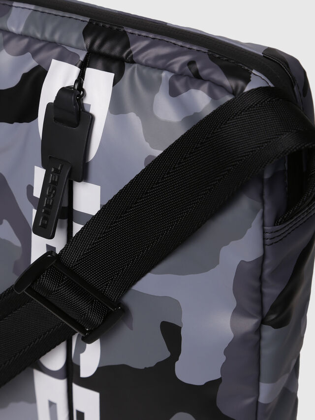 Diesel - F-BOLD SMALL CROSS, Grey - Crossbody Bags - Image 3
