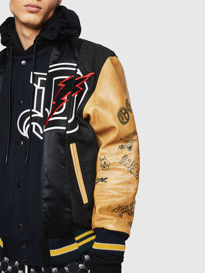 Diesel - L-ANTON, Black - Leather jackets - Image 6