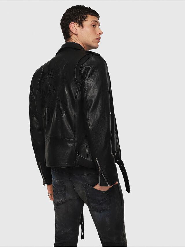 Diesel - CL-L-KIOV, Black Leather - Leather jackets - Image 2