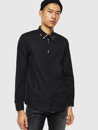 Diesel - S-MARLENE, Black - Shirts - Image 1