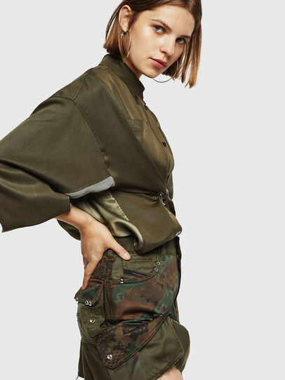 Diesel - O-AMATA, Green Camouflage - Skirts - Image 4