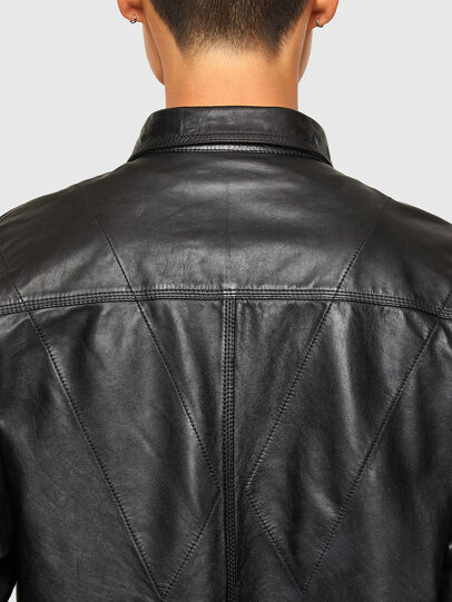 Diesel - L-BROWN, Black - Leather jackets - Image 4
