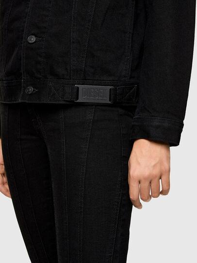 Diesel - NHILL-C1, Black - Denim Jackets - Image 6