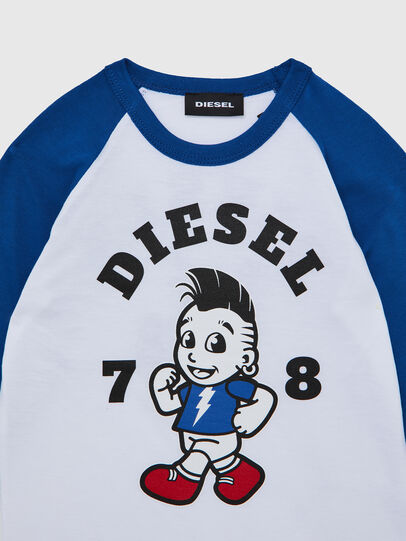 Diesel - TORAB-R, White/Blue - T-shirts and Tops - Image 3