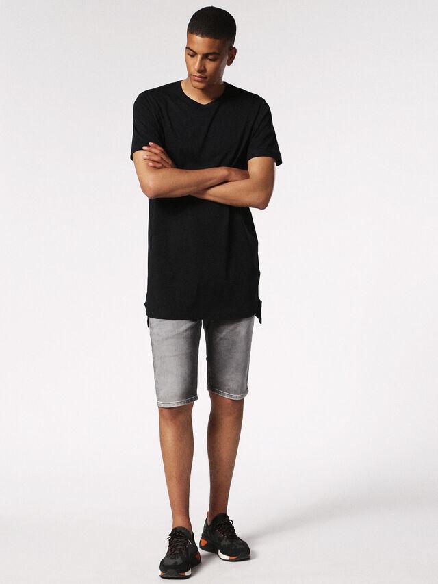 Diesel - KROSHORT JOGGJEANS, Grey Jeans - Shorts - Image 5