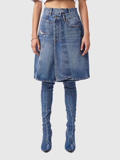 Diesel - DE-TOBY-SP, Medium blue - Skirts - Image 1