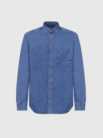 Diesel - D-BILLY, Light Blue - Denim Shirts - Image 1
