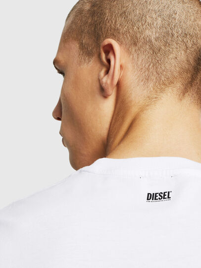 Diesel - T-DIAMANTIK-NEW, White - T-Shirts - Image 3
