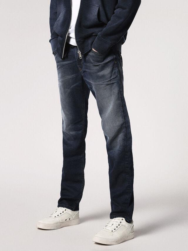 Diesel - Waykee JoggJeans 0683Y, Dark Blue - Jeans - Image 1